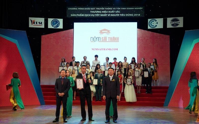 Nệm Sài Thành đã nhận được nhiều danh hiệu lớn