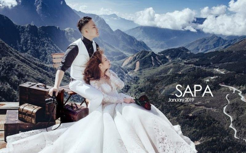 Sapa với vẻ đẹp núi non hùng vĩ rất thích hợp là nơi chụp hình cưới ngoại cảnh