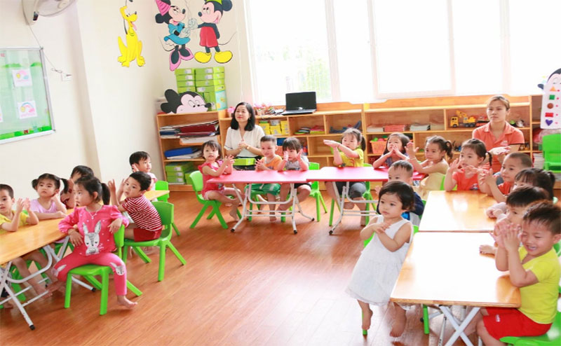 trường mầm non quận 7 Ban Mai