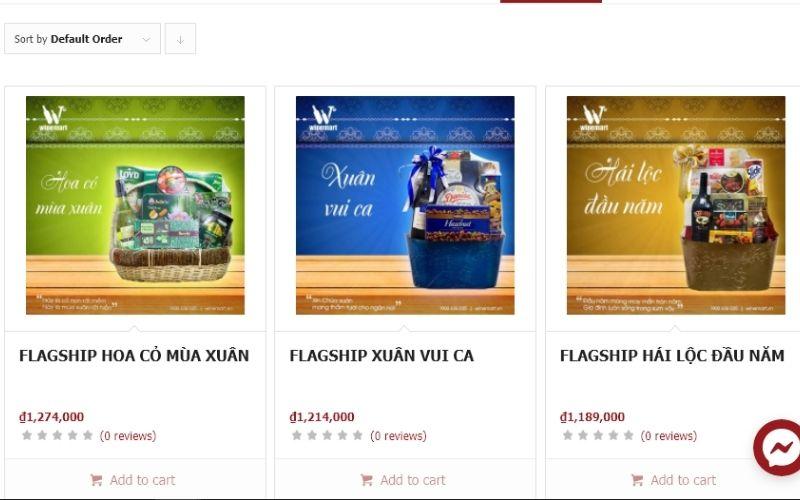 Winemart ngoài bán rượu còn bán rất nhiều giỏ quà mứt tết đặc sắc