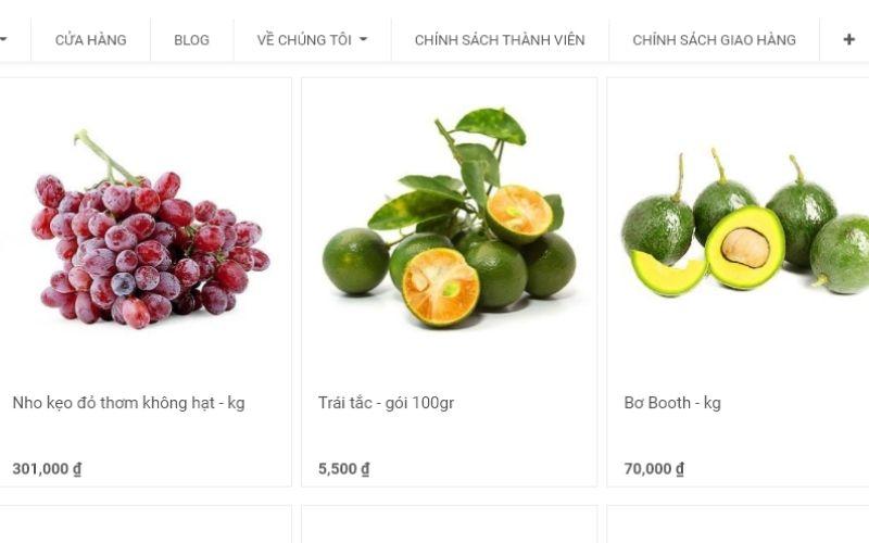 Cửa hàng bán trái cây tươi 3 sạch