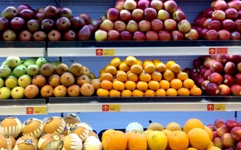 Siêu thị Vinmart với hàng loạt mẫu trái cây tươi mới