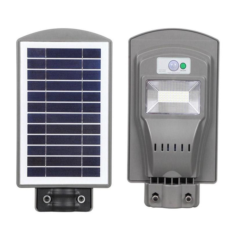 Đèn đường LED năng lượng mặt trời - Tấm pin liền