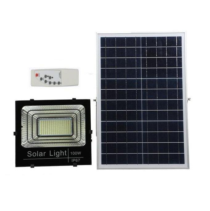 Đèn LED năng lượng mặt trời pin rời 100w