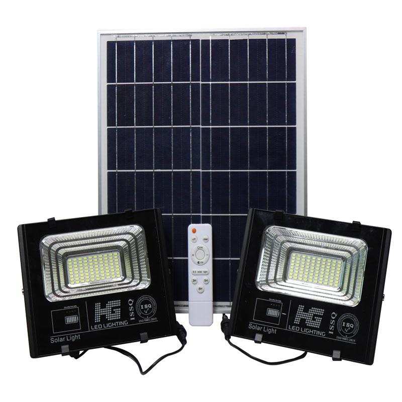 Đèn pha LED năng lượng mặt trời 2 bóng