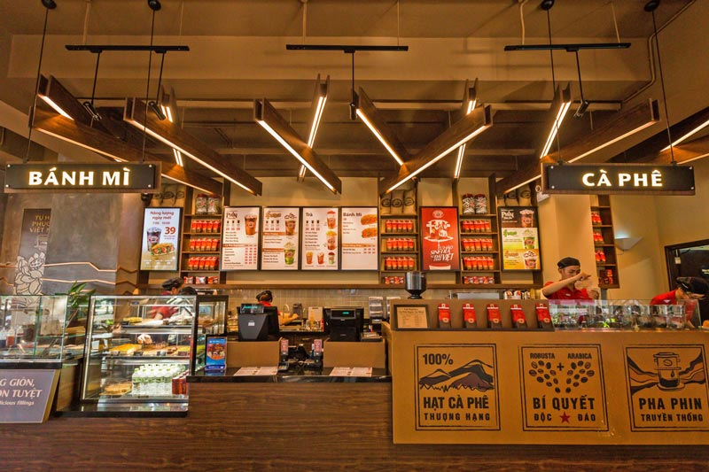 Thiết kế cửa hàng nhượng quyền Cafe Highlands