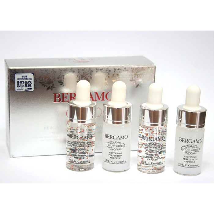 BERGAMO Vita-White & Snow White Whitening Perfection Ampoule