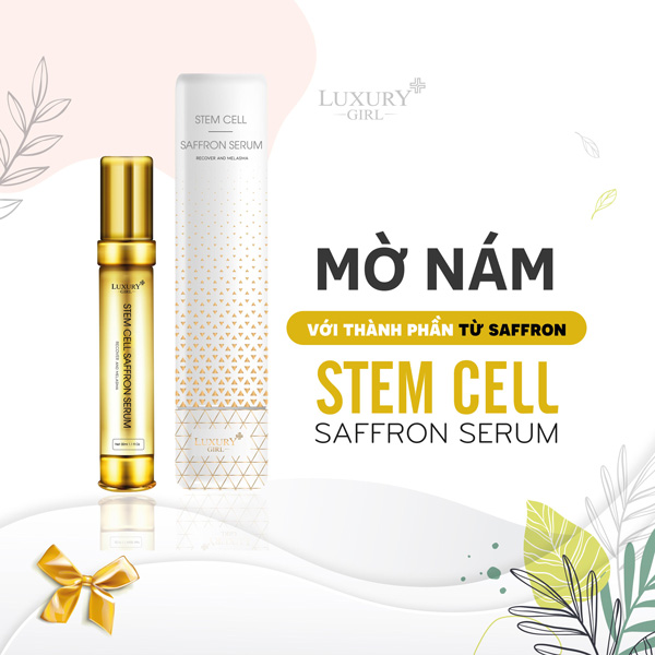 Serum Trị Nám Stem Cell – Saffron Luxury