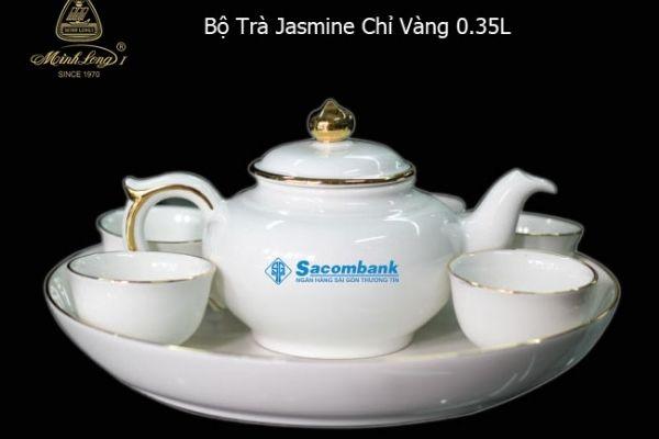 Ấm trà Minh Long in logo