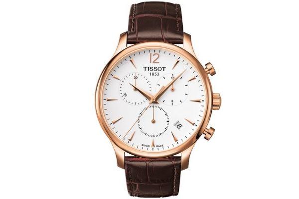 Đồng hồ dây đeo da nam Tissot 063.617.36.037.00