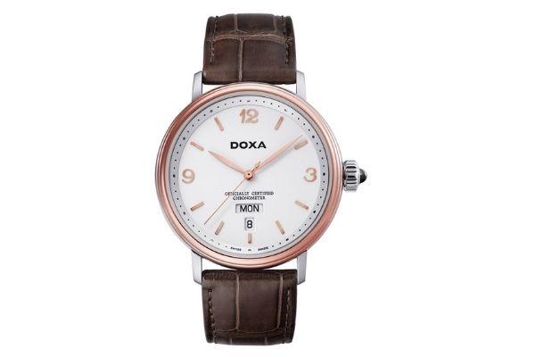 Đồng hồ vàng 18k Doxa D139RWH