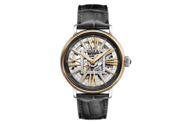 Đồng hồ vàng 18k Doxa D154TWH