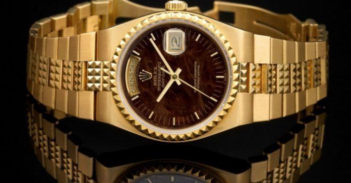 Đồng hồ vàng 18k nguyên khối
