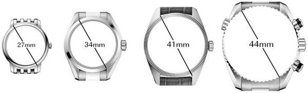 Cách chọn size đồng hồ dành Nam