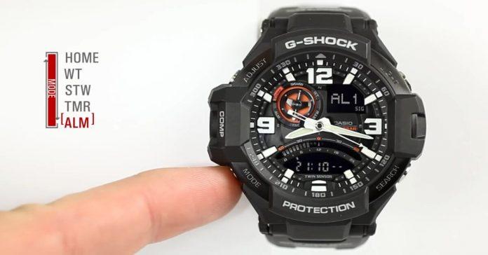 Cách tắt báo thức đồng hồ G Shock đơn giản nhanh chóng