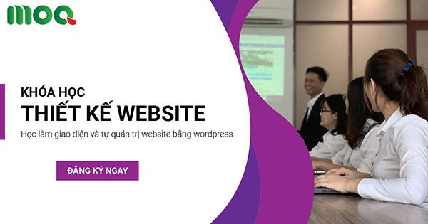 Khóa học thiết kế website bằng wordpress của MOA Việt Nam