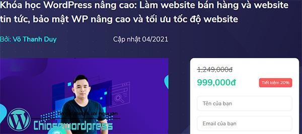 Khóa học WordPress nâng cao: Làm website bán hàng và website tin tức, bảo mật WP nâng cao và tối ưu tốc độ website trên KTcity