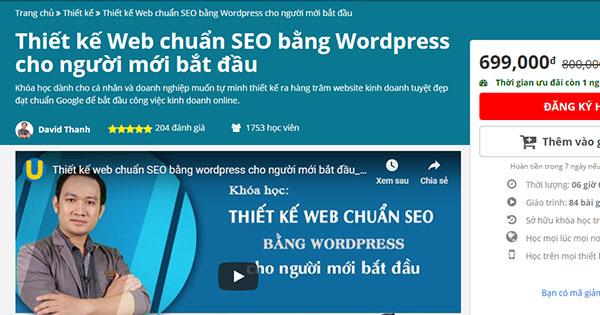 Thiết kế Web chuẩn SEO bằng WordPress cho người mới bắt đầu trên Unica
